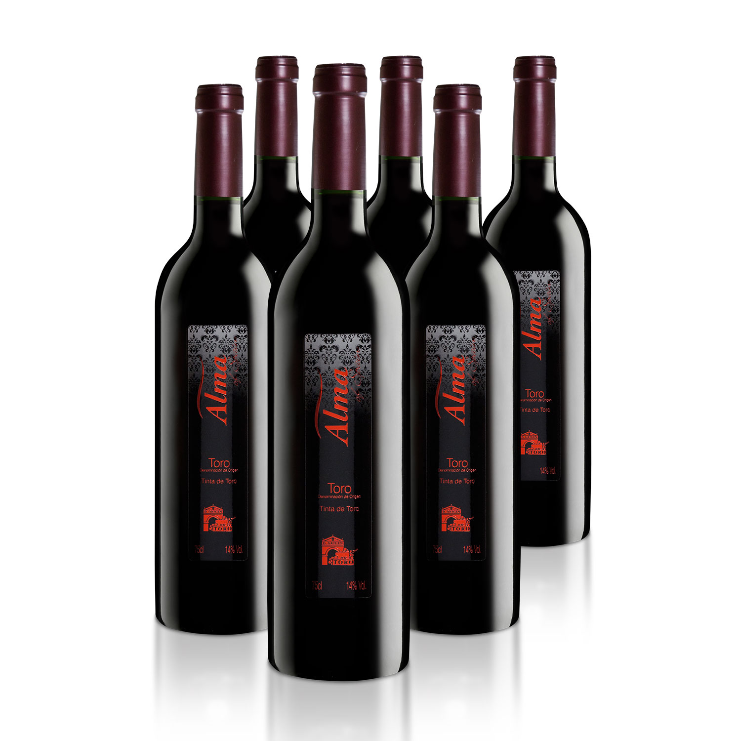 Vino Tinta de Toro, pack de 6 botellas. Alma of Spain